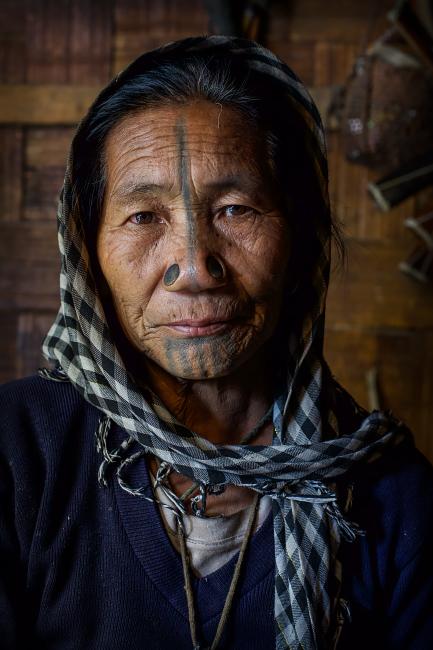 Apatani in Ziro, Arunachal, Indien