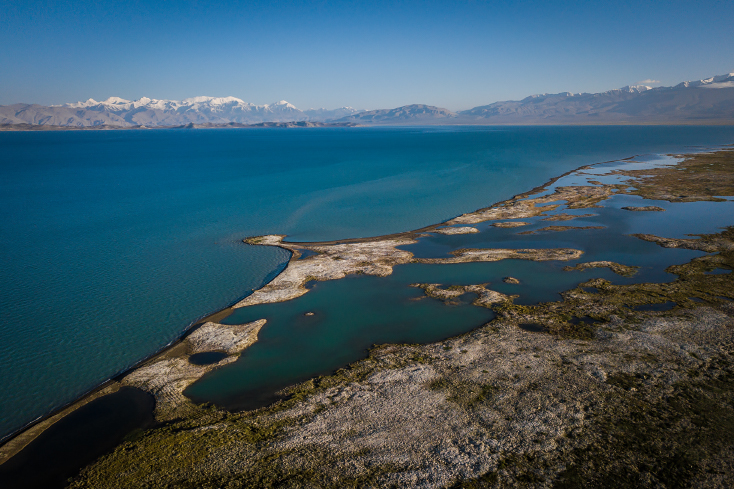 Karakul lake, See, Pamir, Pamir Highway, Tadschikistan, Tajikistan,