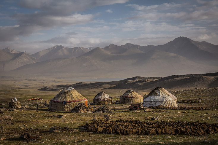 Kirgisische Jurtensiedlung im Großen Pamir, Afghanistan