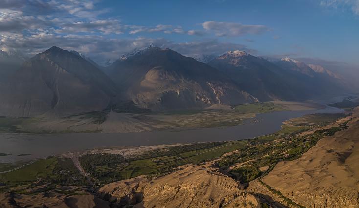 Wakhan-Korridor, Tadschikistan, Afghanistan